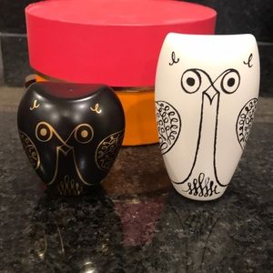 NWT Kate Spade Owl Salt and Pepper Shakers